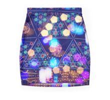 Colorful Psychedelic Bokeh Lights Shapes Amusement Park Tokyo Mini Skirt