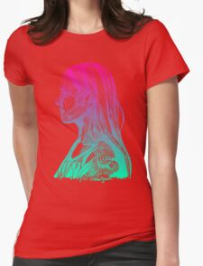 Amanda - Magenta Teal Womens Fitted T-Shirt