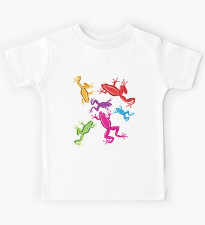 Coloured crazy frogs Kids Tee