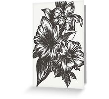 Floral in Ink Greeting Card