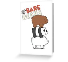 We Bare Bears - Cartoon Network Greeting Card