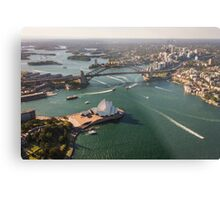 Sydney Harbour from the Sky Metal Print
