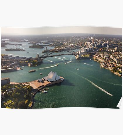 Sydney Harbour from the Sky Poster