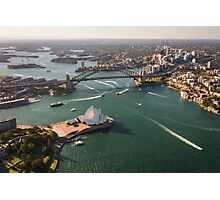 Sydney Harbour from the Sky Photographic Print