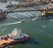 Sydney Harbour from the Sky Sticker