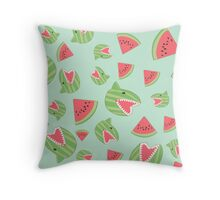 Watermelon Shark Throw Pillow