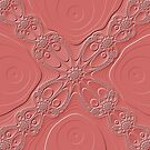 White Lace on Pink Fractal by MotherNature