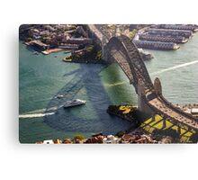 Shadows of the Sydney Harbour Bridge Metal Print
