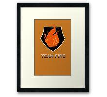Team Fire Framed Print