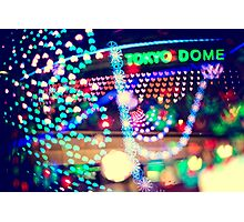 Love Tokyo Dome Colorful Psychedelic Heart Bokeh Lights  Photographic Print