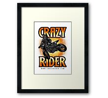 Crazy Rider dirt bike skull rider kickout Framed Print