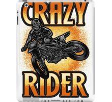 Crazy Rider dirt bike skull rider kickout iPad Case/Skin