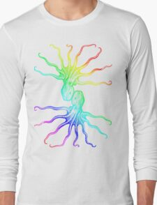 Rainbow Octopus Long Sleeve T-Shirt