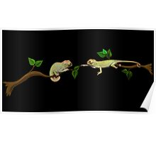 Wanna Be Friends? - Baby Panther Chameleons Poster