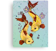 Two (Koi) Fish Canvas Print