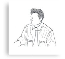 Mulder Outline Canvas Print