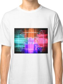 Speeding Hearts Abstract Colorful Light Trails Classic T-Shirt