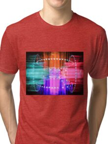 Speeding Hearts Abstract Colorful Light Trails Tri-blend T-Shirt