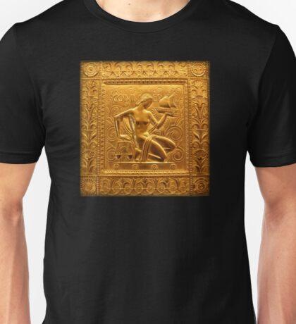 Embossed Brass Commerce Panel - Fisher Building Unisex T-Shirt