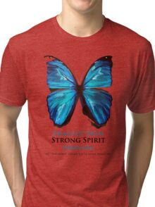 Beautiful Blue Butterfly Proceeds donated to DebRa.org Tri-blend T-Shirt