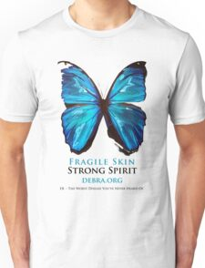 Beautiful Blue Butterfly Proceeds donated to DebRa.org Unisex T-Shirt