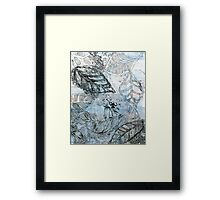 Leaves 16 Mixed Media - Ink on Acrylic Monotype Print Framed Print