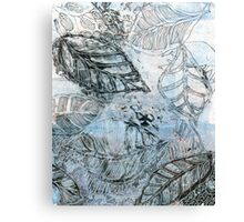 Leaves 16 Mixed Media - Ink on Acrylic Monotype Print Canvas Print