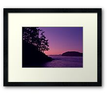 Peach Horizon Framed Print