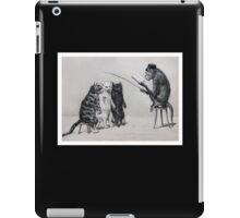 Three Cats and a Monkey Professor - Victorian Anthropomorphic Art iPad Case/Skin