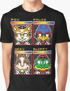 Star Fox Comm Faces - Pixel Art Graphic T-Shirt