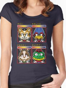 Star Fox Comm Faces - Pixel Art Women's Fitted Scoop T-Shirt