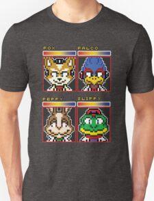 Star Fox Comm Faces - Pixel Art Unisex T-Shirt