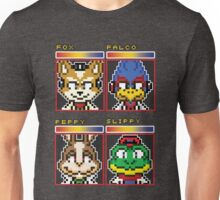 Star Fox Comm Faces - Pixel Art Unisex T-Shirt