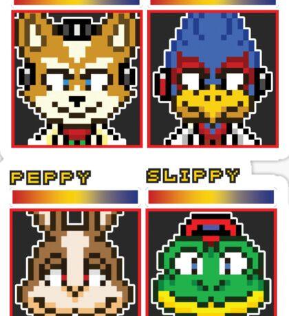 Star Fox Comm Faces - Pixel Art Sticker
