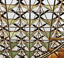 Geometric ceiling by Maggie Hegarty