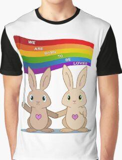 Skip & Pip (aka the Pride Bunnies) Graphic T-Shirt