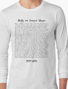 Buffy the Vampire Slayer: Episodes Long Sleeve T-Shirt