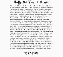 Buffy the Vampire Slayer: Episodes Unisex T-Shirt