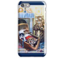 Louis Wain - Kittens Rocking The Crib iPhone Case/Skin