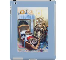 Louis Wain - Kittens Rocking The Crib iPad Case/Skin