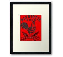 PATRIOT COCK! Framed Print