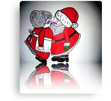 MR. AND MRS. SANTA CLAUSE  Canvas Print
