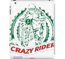Crazy Rider old motor cycle design. iPad Case/Skin