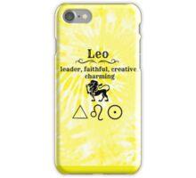 Leo Star Sign Design iPhone Case/Skin