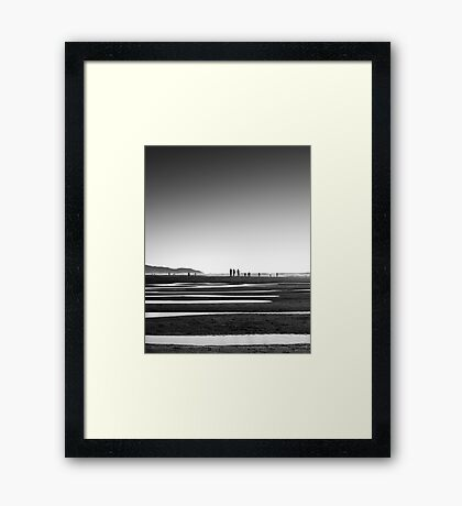 Lines in the Sand Framed Print