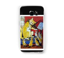 Cat Plays Violin for Dancing Rats - Victorian-era Anthropomorphic Art Samsung Galaxy Case/Skin