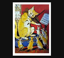 Cat Plays Violin for Dancing Rats - Victorian-era Anthropomorphic Art Unisex T-Shirt