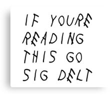 Sigma Delta Tau - Drake Canvas Print
