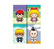 Chosen Four Square - Earthbound Pixel Art Art Print