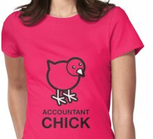 Accountant chick Womens Fitted T-Shirt
